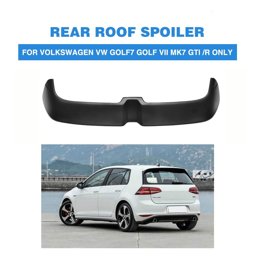 Rear Roof Spoiler boot lip Wing for Volkswagen VW Golf 7 VII MK7 GTI / R 2014-2017 FRP Black Rear Window Wing O style