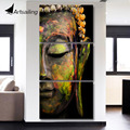 Artsailing wall art HD print 3 piece canvas art Buddha painting Wall Art Modular Picture For Living Room Buddha canvas