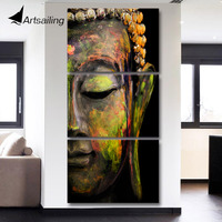 Canvas Art Printed Buddha Portrait Art Painting Canvas Print Room Decor Print Poster Picture Canvas Free