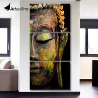 Canvas Art Printed Buddha Portrait Art Painting Canvas Print Room Decor Print Poster Picture Canvas Free