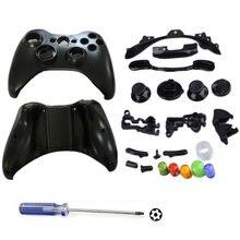 Жесткий Чехол для геймпада, защитный чехол, полный комплект с кнопками, аналоговые бамперы для XBox 360, беспроводной контроллер + стяжка