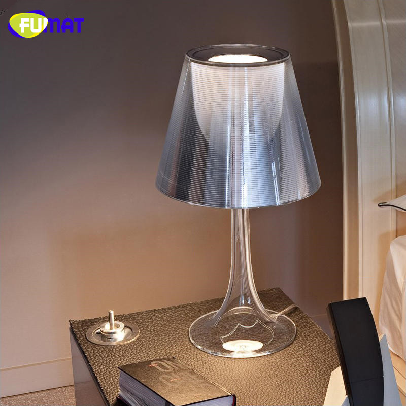 FUMAT Philippe Starck Lamp Simple Acrylic Table Lamp Modern Lampe Deco Bedroom Transparent Table Lamp Lights with E27 LED Bulb parrot zik 2 0 by philippe starck yellow