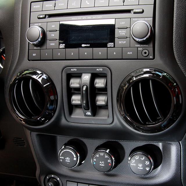 Black Chrome ABS Cobre Para Jeep Wrangler JK 2/4 Portas Interior Cromado  Guarnição Decorações