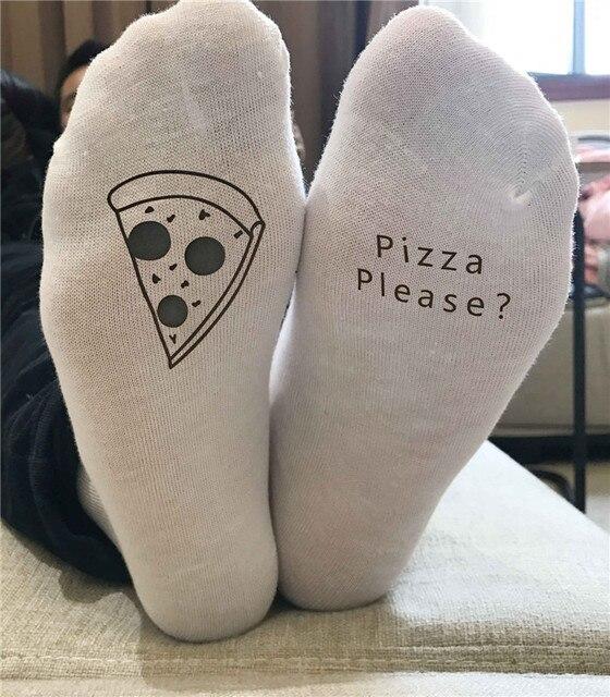 2017 ST11 Unisex pizza silahkan Mode Kaus Kaki Kaus Kaki Katun Lucu Kaus Kaki Hangat