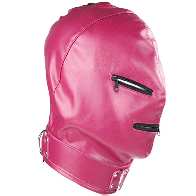 Buy Faux Leather Hood Headgear Party Mask Bondage Slave Fetish Adult Games Erotic Couples Toys Sex Products Women Men Gay hsv