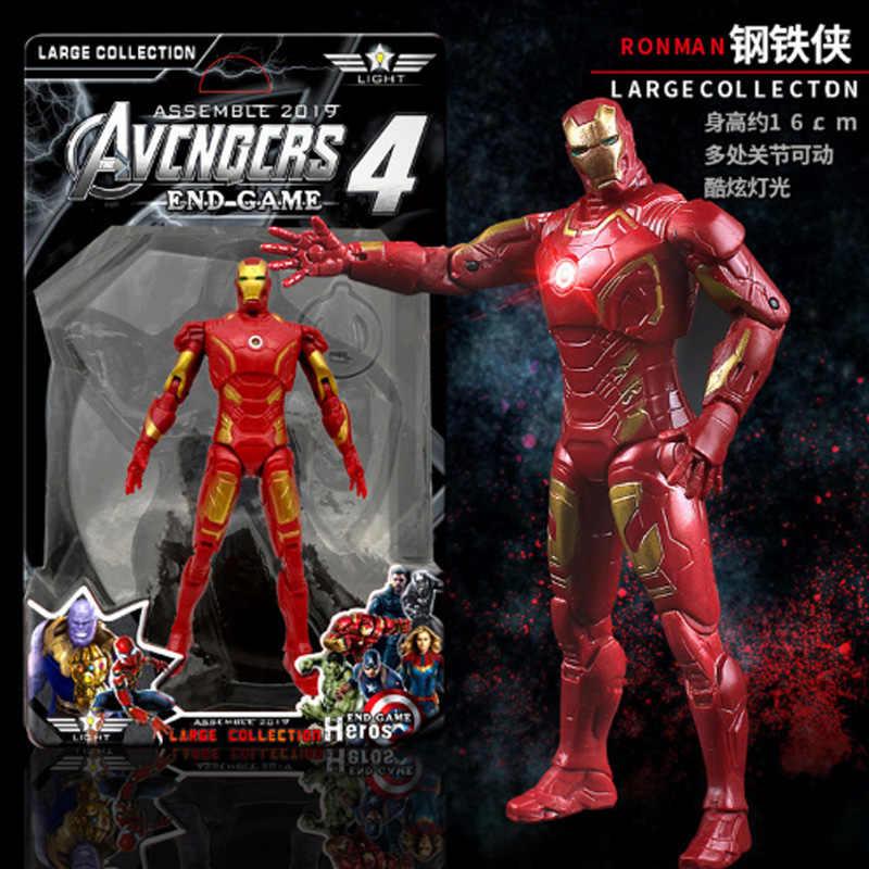 Marvel Мстители 4 эндигра музыкальный светодиодный светильник кукла танос Человек-паук Халк Тор действие Марвел Капитан Коллекционные Фигурки игрушки