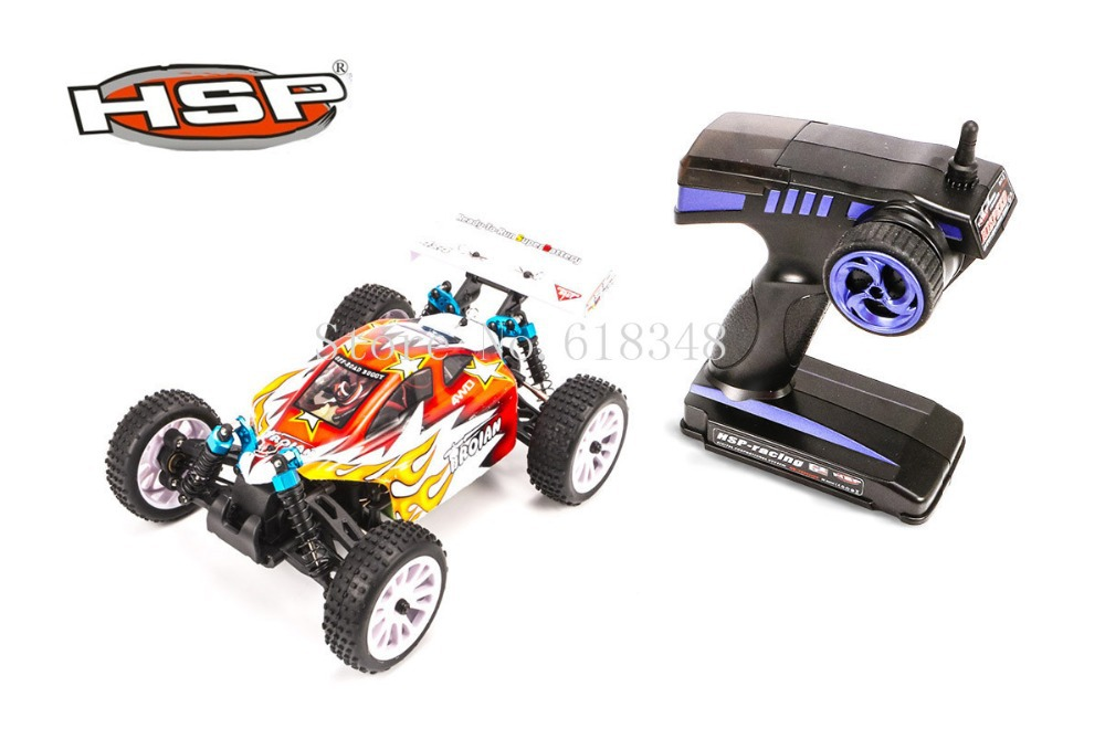 Genuine HSP 1/16th Scale Electric Power Off Road Buggy 4WD RTR RC Car Troian 94185 Remote Control Toys With 2.4Ghz Radio Control hsp bajer 5b 1 5th 2wd rtr 26cc engine gasoline off road buggy 94054