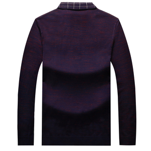 Image 4 - Plus 8XL 6XL Father Clothes Simple Comfortable Style Mens Sweater Long Sleeve Lapel Leisure Pullover Men Pull Homme Sweaters
