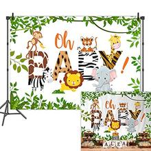 NeoBack Jungle Safari Baby Shower Backdrop Oh Photography Background Vinyl Animals Backdrops
