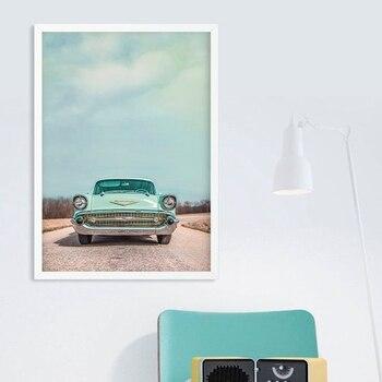 Póster con impresiones artísticas para fotografía de coche Vintage para decoración de pared de Chevrolet, póster de Chevy antiguo, lienzo de pintura Retro, imagen artística para pared