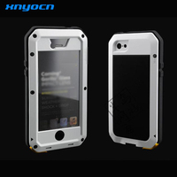 Fashion Waterproof Dropproof Dirtproof Shockproof Aluminum Case For IPhone 5C Metal Cover Gorilla Glass Retail Packaging