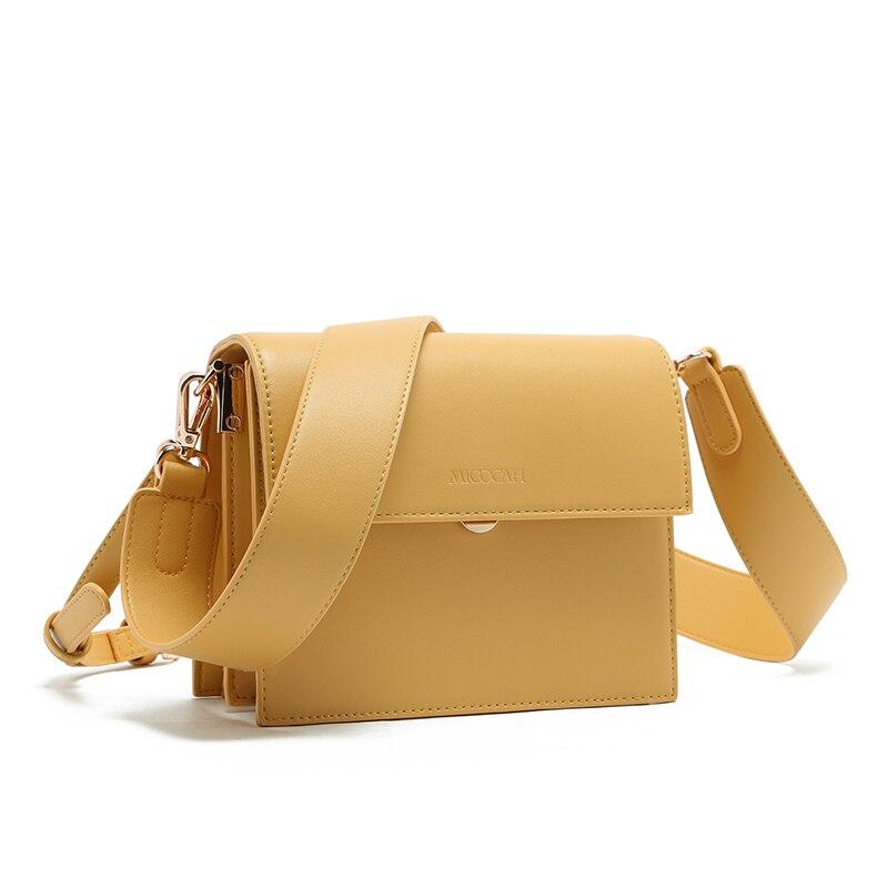 MICOCAH large bandoulière sacs pour femmes marque célèbre femme sac jaune/marron/noir MSD177