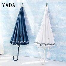 YADA 16K Navy Style Long Automatic Golf Brand Umbrella Female Rain uv Umbrellas Car For Women Men Windproof Male YS618