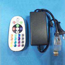 AC 220V RGB Led Controller  20/24 Keys Wireless IR Remote Control Dimmer for 3528 5050 RGB LED Strips Lights 1set/lot