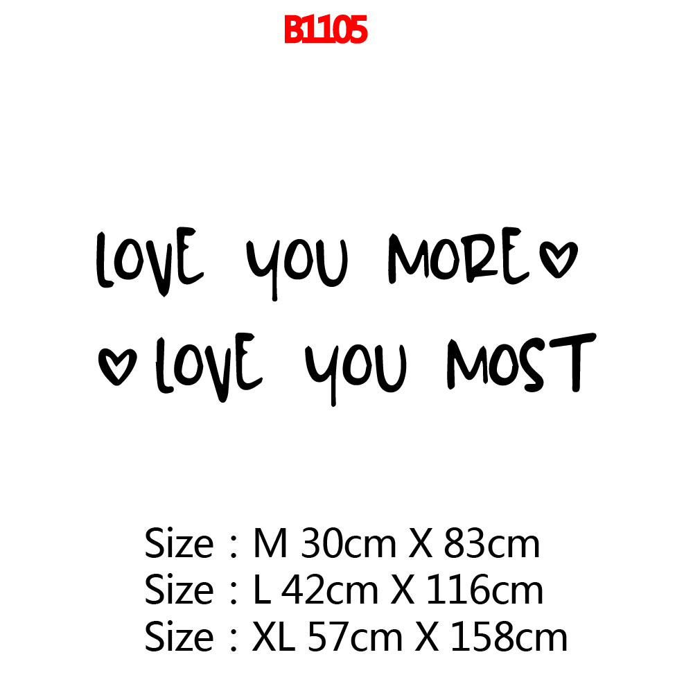 Personalized Love You More Vinyl Kitchen Wall Stickers Wallpaper For Kids Rooms Home Decor Decorative Vinyl Wall Stickers in Wall Stickers from Home Garden