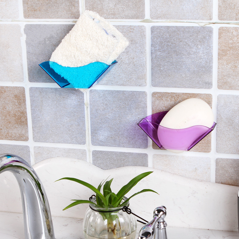 Hot sale 4pcs High Quality Double Suction Cup Sink Shelf Soap Sponge Drain Rack Bathroom Kitchen Sucker Storage,Free shipping.