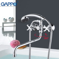 GAPPO New Wall Tap Brass Bathtub Sink Water Mixer Hand Shower Bathtub Faucet Bathroom Shower Faucet