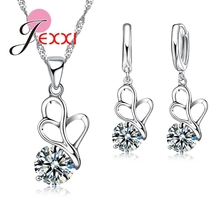 PATICO White Austrian 925 Sterling Women Round Crystal Zircon Rhinestone Chain Statement Necklaces Pendants Women Jewelry