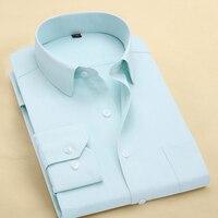 الرجال زائد حجم قمصان طويلة الأكمام الأعمال الرسمي العمل camisa الغمد الاجتماعي 6xl 7xl 8xl