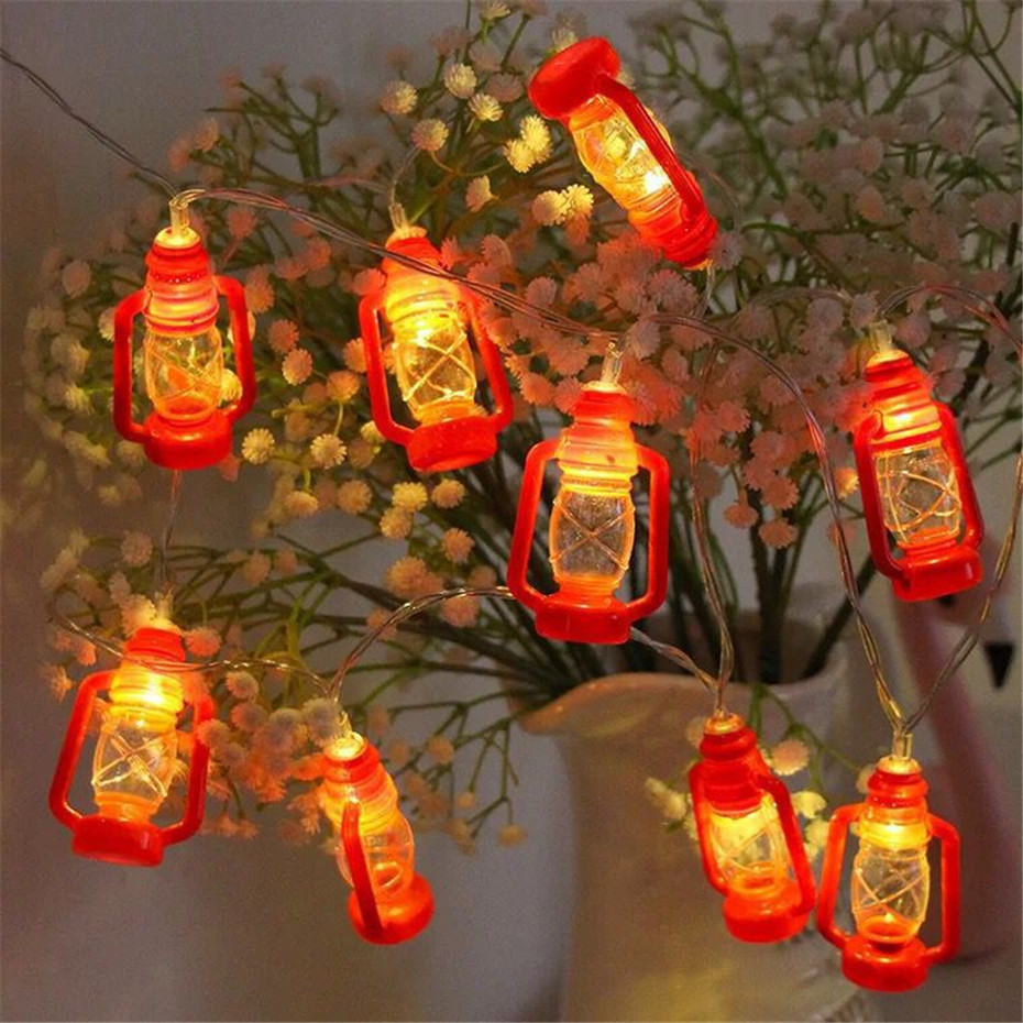 3M 20leds Battery Power Coleman Lantern LED String Lights Warm Light Lamps Decoration For Room Party Holiday Marqueeing Larterns