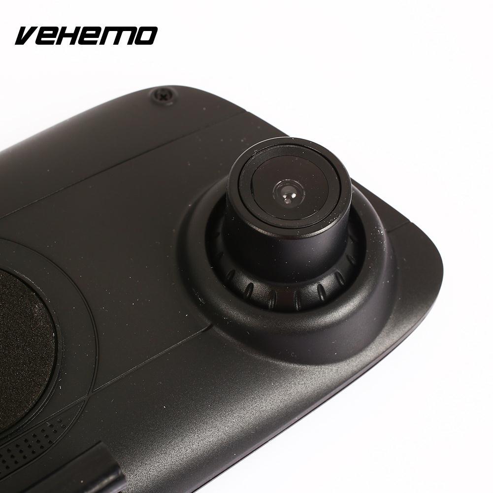 Vehemo 4.3 Inch Dash Cam Motion Detection Driving Recorder Durable G-Gensor Rearview Mirror Car DVR Parking Monitor Univerasl