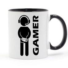 Приставка для видеоигр Gamer Кружка Кофе Молоко творческая керамическая кружка DIY подарки Домашний декор кружки 11 унций GA047