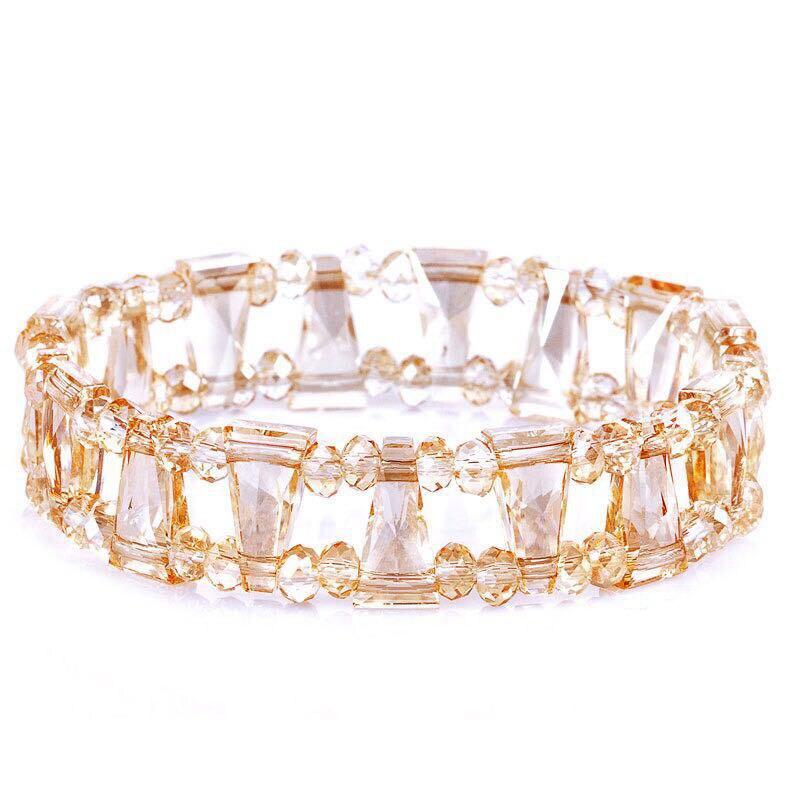 2018 Luxury Beads Chain Bracelet Bangles Crystals From Swarovski Wrap Bracelet Charm Statement Hand Jewelry For Women Wedding graceful rhinestone fox beads wrap bracelet for women