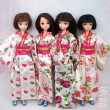 4pcs lot Handmade 2015 New Design kimono Japan Costume Clothing Outfit For 1 6 Kurhn Barbie
