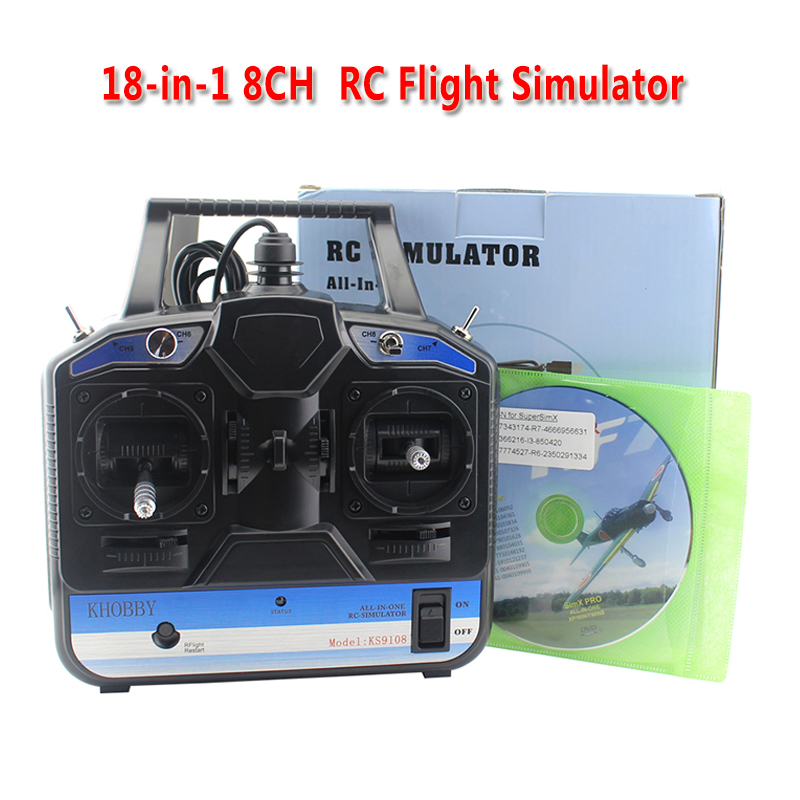 18 In 1 8CH RC Flight Simulator Support Realflight G7 Phoenix 5 0 XTR Remote Control