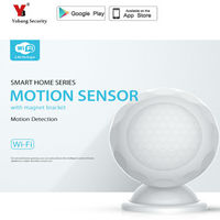 YobangSecurity Smart Home Automation Motion Sensor PIR,Battery Operated,App Notification Alert,No hub operated,Wifi Enabled