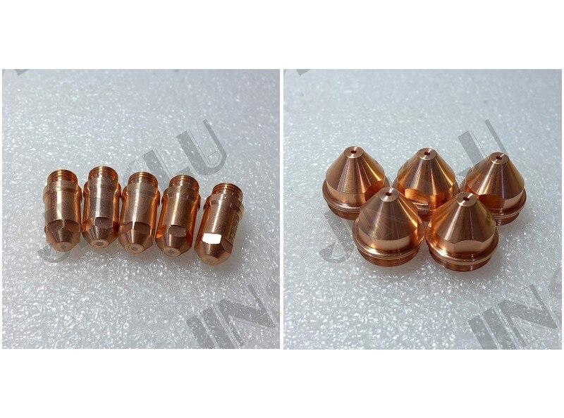 Electrode 5 + 1.2 1.6 1.8 Tip 5 YGX-100 YK-100 100A YK 100103 YGX 100102  Huayuan LGK-100 LGK-120 CNC Plasma Torch