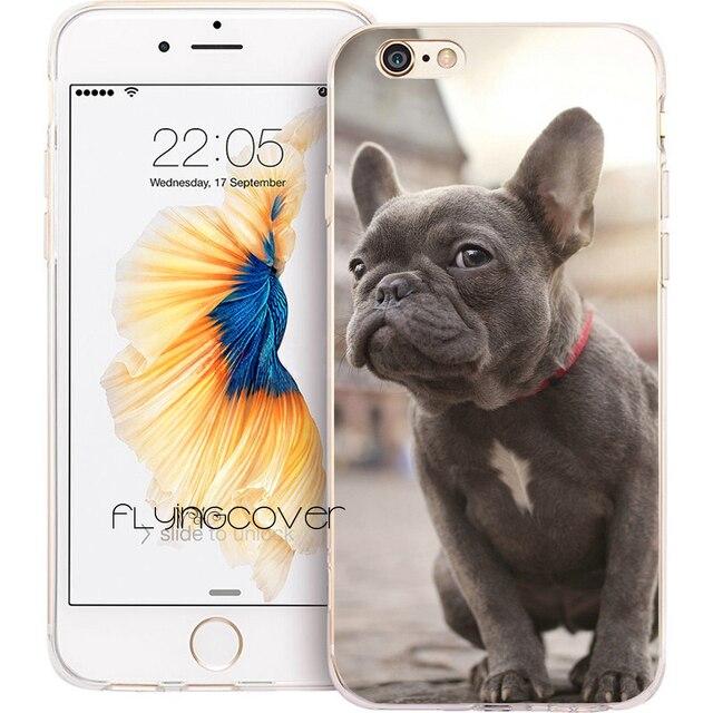 1562d13e234 Funda para teléfono de silicona suave claro perro Bulldog francés para  iPhone XS Max XR 7