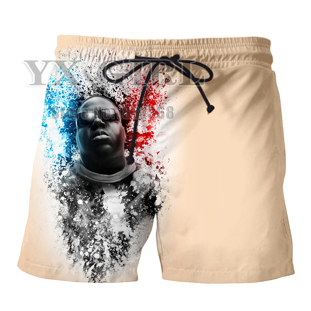 Men's Clothing Active Yx Girl New Fashion Shorts Men Women 3d Print Rap Singer Notorious Big 3d Shorts Breathable Short Pants Summer