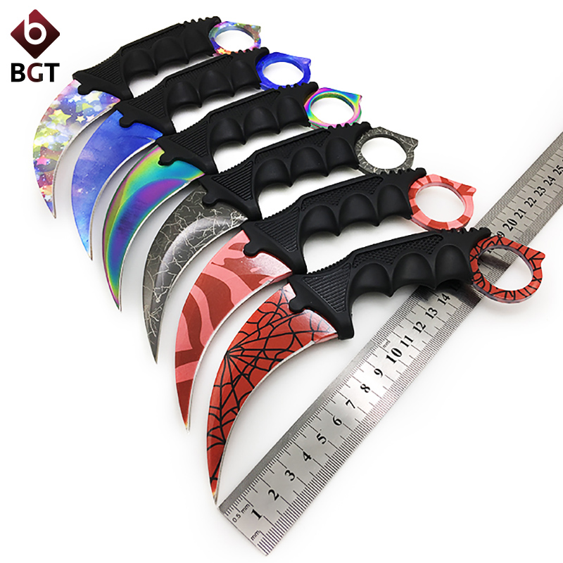 BGT CS GO Tactical Fixed Blade Knife Karambit Combat Pocket Hunting Camping Neck Claw Knife Utility Outdoor Survival Multi Tools hunting knife survival neck cold steel camping pocket cs go tactical folding knife counter strike knife hunting knife bayonet