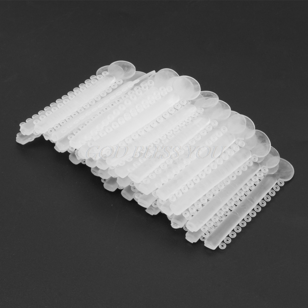 1040Pcs Dental Orthodontics Elastic Elastomeric Clear Color Ligature Ties
