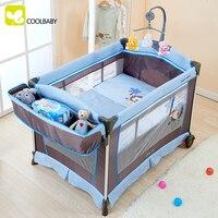 Многофункциональный складной кроватки Детская кровать Континентальный портативный манеж с москитной сеткой Детские шейкер