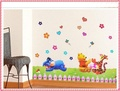 single-piece wallstickers  Happy bear wall stickers animal wall decorations kids wall decals hot selling