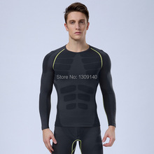 men compression tight long sleeve quick drying clothing t shirt homme fitness shirt Tights