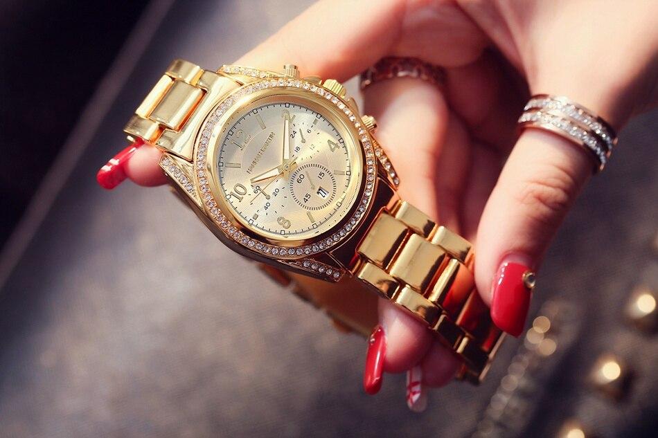 2017 Γυναίκες πολυτελή χρυσά ρολόγια - Γυναικεία ρολόγια - Φωτογραφία 4