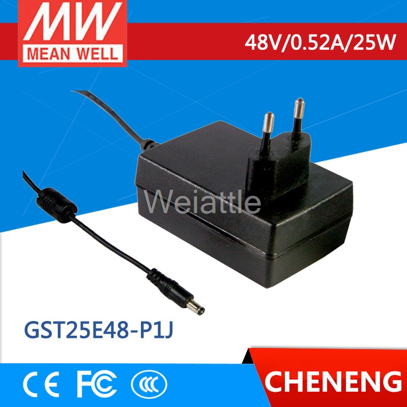 MEAN WELL original GST25E48-P1J <font><b>48V</b></font> 0.52A meanwell GST25E <font><b>48V</b></font> 25W AC-DC High Reliability Industrial <font><b>Adaptor</b></font> image