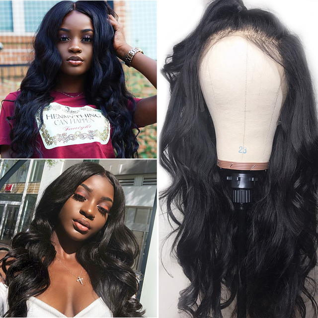 Brazilian 360 Lace Frontal Wigs Pre-Plucked Natural Hairline With Baby Hair Remy
