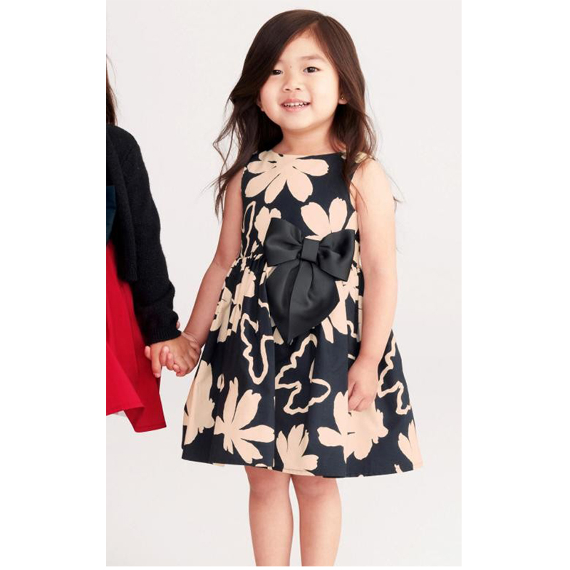 2017 Girls Dresses Summer Style Baby Girls Dress Floral Printed
