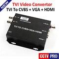 2016 Original New HDTVI Video Converter TVI To HDMI/VGA/BNC(CVBS) Signal With 720P/80P 25/30Hz US/EU/UK/AU Plug Black