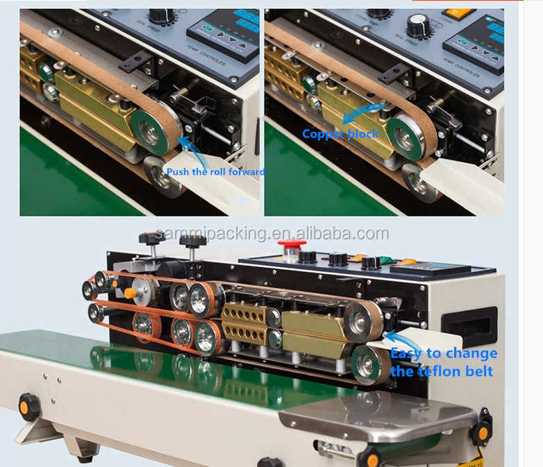 Новейший Конвейерный запайщик прямой нагреватель с твердым чернильный принтер