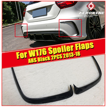 W176 Rear bumper side Splitter Vent ABS Gloss black Fits For MercedesMB A Class A180 A200 A250 A45AMG style Sports 2 Pcs 2013-in
