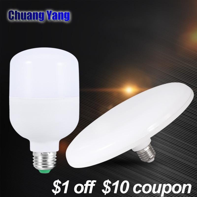UFO Led מנורת חיסכון באנרגיה Led אור 220 V 230 V 240 V SMD2835 LED הנורה E27 15 W 20 W 30 W 40 W 50 W 60 W Lampada Led אורות לבית