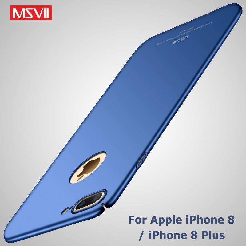 Для iPhone 8 чехол MSVII Роскошь кожи Coque для Apple iPhone 7 Plus 8 плюс тонкий крышкой ПК для iPhone 8 Plus телефон случаях