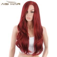 Я в парик синтетические красный Искусственные парики длинные волнистые волосы для черный Для женщин
