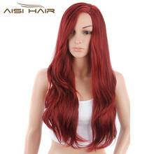 I's a wig Synthetic Wigs for Black Women Long Wavy Red Hair