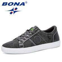 BONA/Новинка года; классическая Стильная мужская обувь для скейтбординга; парусиновая Уличная обувь для бега; удобная дышащая мужская обувь на плоской подошве